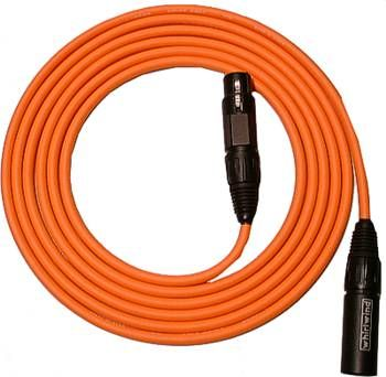 Whirlwind MKQ25 - Cable - Microphone, Quad, XLRF to XLRM, 25', Canare L4E6S, black [available in colors - email for quote]