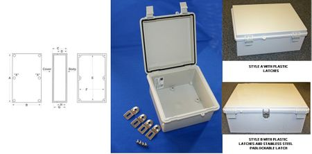 Bud Industries NBF-32416 - NEMA 4X Enclosures-NBF series-UL/NEMA/IEC IP67-L12 X W8 X D5