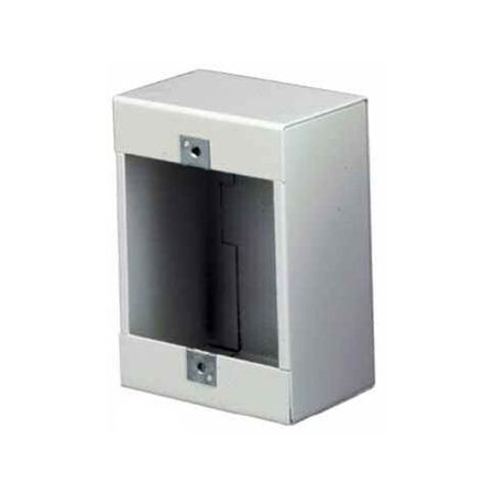 Lowell P1X Box-Steel Fits 1-gang Devices 2.5in Deep White