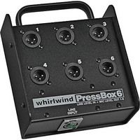 Whirlwind PB06 - Pressbox - Passive, 1-line in, 6-mic out