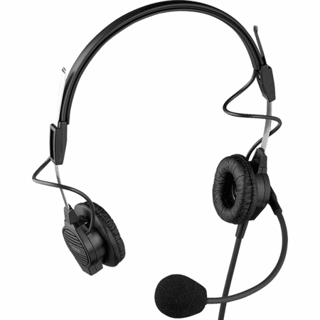 Telex Intercom - Free Ground Shipping - PH-44R5, F.01U.117.500 - PH-44, Dual-Sided Lightweight Headset, 6' (18M) Cord, A5M Connector