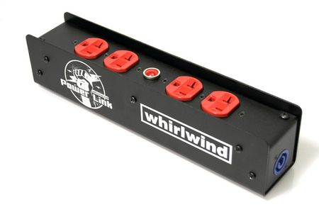 Whirlwind PL1-420-RD - Power Link - PL1 Stringer, PowerCon 20A I/O, (2) HBL5352RD, indicator lamp