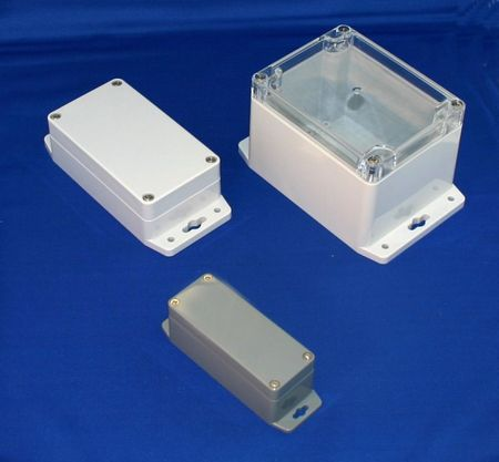 Bud Industries PN-1329-DGMB - NEMA 4X Enclosures-PN series-Plastic NEMA 4X With Mounting Brackets-L9 X W6 X D3