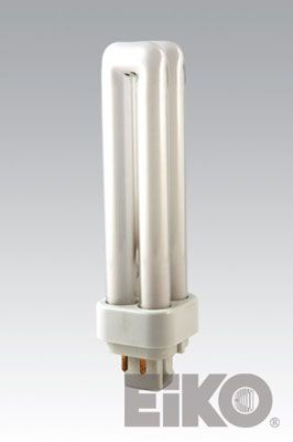 Eiko QT13/27-4P 13W Quad-Tube 2700K G24q-1 4 Pin Base Fluorescent - Cf Lamps