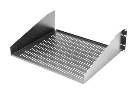 "Bud Industries SA-1753-MG - 19 inch Rack Shelves-SA series-Accessories 19"" Equipment Shelf-Open Rack-L20 X W19 X D5"