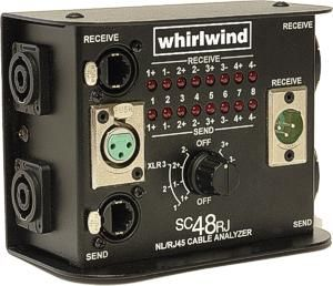 Whirlwind SC48RJ - Tester - NL4/NL8 multiline speaker, XLR and RJ45 cable tester
