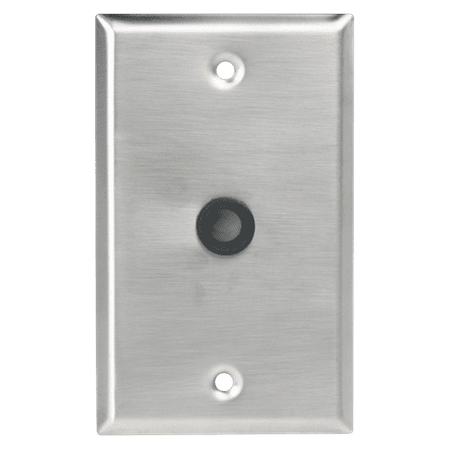 "Atlas Sound SG-38GH - Single Gang Stainless Steel Plate 3/8"" Hole & Grommet"