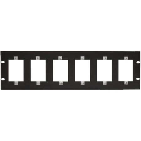 Lowell SG6P-3 Rack Panel-3U Mounts Six 1-gang Devices Black