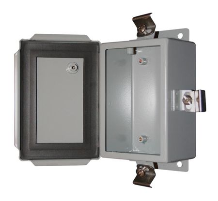 Bud Industries SN-3701 - NEMA 4X Enclosures-SN series-NEMA 4X Sheet Metal Boxes-L8 X W6 X D4