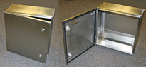 Bud Industries SNB-3735-SS, NEMA 4 Enclosure, Stainless Steel, 16x12x6.