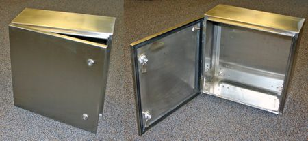 Bud Industries SNB-3736-SS - NEMA 4X Enclosures-SNB series-NEMA 4X Stainless Steel Boxes-L16 X W12 X D8