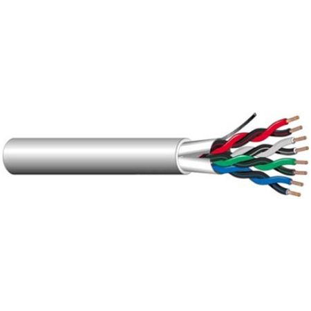 West Penn Wire 3752GY1000 - 3 Pairs 18 (7X26) Bare Shielded Cmr