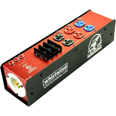 Whirlwind PL2-213013P-000 - Power Link - PL2 Stringer, L2130 chassis inlet, (3) PowerCon 20A outlets, indicator lamps, circuit breakers