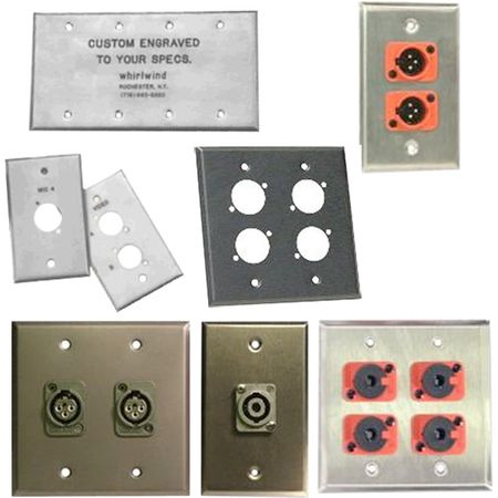 Whirlwind WP1/1NDH - Wallplate - 1 gang, stainless steel, punched for 1 Neutrik XLR