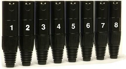 Whirlwind WI3F-BK-# - Connector - XLR - WW, female inline, WI3F-BK numbered, gold contacts, Whirlwind