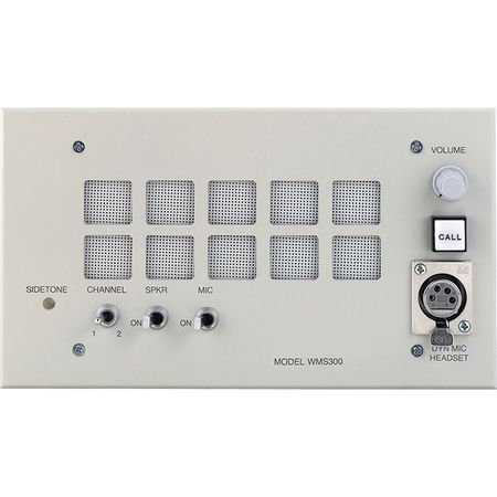 Telex Intercom WMS300L A5F, F.01U.118.517 - Dual-channel wall mount user station with speaker