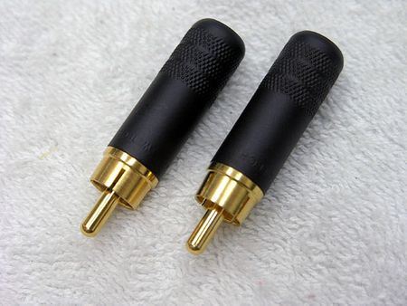 Whirlwind Z3502A-BAU - Connector - RCA, male inline, black/gold