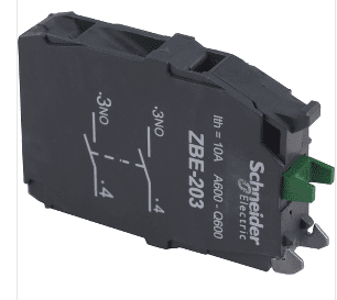 Square D Schneider Electric - ZBE203 - Standard Double 2 NO Contact Block.