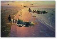 Ace Over Normandy by Anthony Saunders (Spitfire)