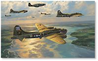 Back From Berlin by Anthony Saunders (B-17)