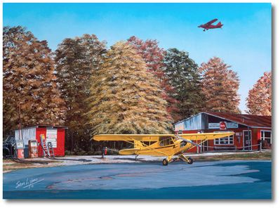 Golden Times by Sam Lyons (Piper J-3 Cub)