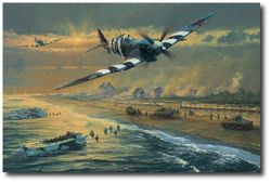 Juno Beach by Anthony Saunders (Spitfire)