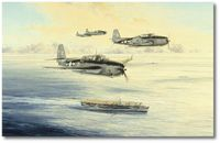 Low Holding Over the San Jacinto by Robert Taylor (TBM Avenger)