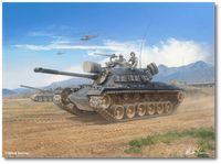 "M48A3 Patton Tank - ""Dreadnaughts Rolling"" by Mark Karvon"