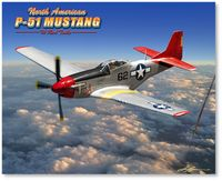 P-51 Mustang - The Red Tails by Larry Grossman