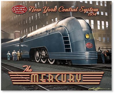 The Mercury - New York Central by Larry Grossman
