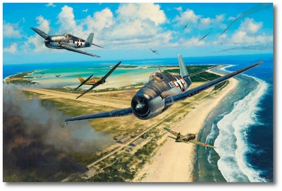 Pacific Glory by Anthony Saunders (F6F Hellcat)