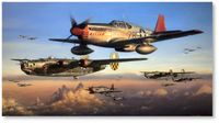 Safe Passage Home by John Shaw (P-51, B-24)
