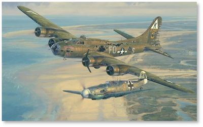 Salute to the Brave by Anthony Saunders (B-17, Me109)