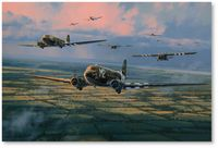 Skytrain to Normandy by Anthony Saunders (C-47)