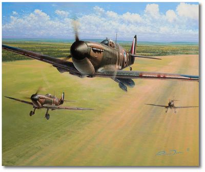 Spitfire Scramble by Richard Taylor
