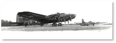 The Belle in Repose by David Gray (B-17 - Memphis Belle)