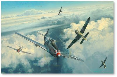 The Eagles Divide by Robert Taylor (P-51, Me109)