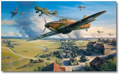 The Road to Dunkirk by Nicolas Trudgian (Hawker Hurricane)
