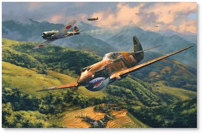 Tiger Fight by Anthony Saunders (P-40 AVG)