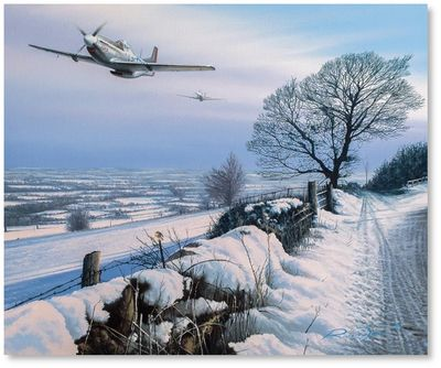 Winter's Wings by Richard Taylor - P-51