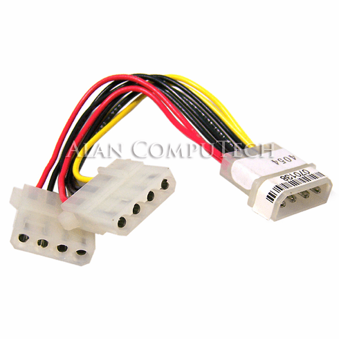 4-Pin Converter Intrnl Power Y Cable NEW 134-4054 4Pin Male to 2 Female 070138