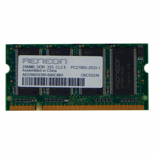 Aeneon 256MB PC2700 DDR 333 Sodimm AED560SD00-600C88X CL2.5