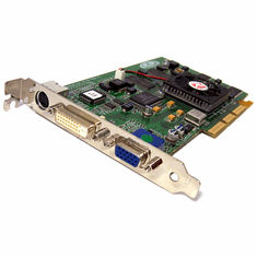 ATi 32MB AGP VGA-DVi -S Video Card RADEON-SDR-32MB VGA-DVI-SVID 109-76800-00