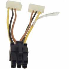 Compupack Dual 4Pin to 6Pin Power Cable A001-W011-RS1