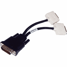 Dell DMS-59 to Dual DVI-I Y-Splitter Cable H9361 Dual DVI-I (Dual Link)