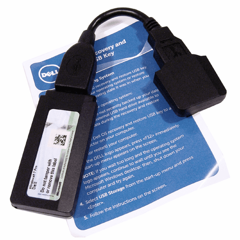 Dell OS Recovery and Restore USB Key W7P64 New 584GT Windows 7 Pro 64bit