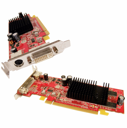 Dell Radeon X600 128MB PCIe Low Profile Card J9133 109-A26030-01 DVI-TVout