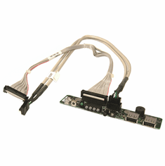 Dell SC1425 Front Control Panel Board w/ Cables U4883 with R4081-T4067 Cables
