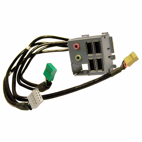 Dell Vostro Input-Output IO Panel Front Assy H580D with Audio-4xUSB-Cables Assy