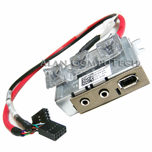 Dell XPS 730 Audio iEEE1394 IO Front Panel Assy JY052 with Cables XR727- RU606